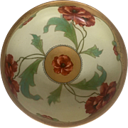 Large Haviland Limoges Bowl with Handpainted Pickard design and RARE Signature!