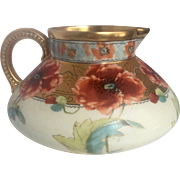 Short Limoges Pitcher with Handpainted Pickard Design
