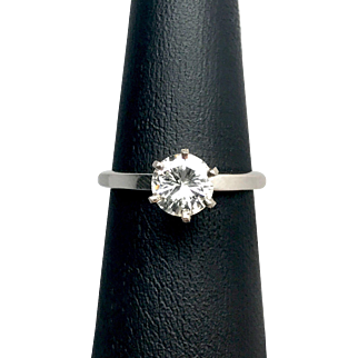 .81ct  Old European Cut Solitaire Diamond Ring in 14K White Gold