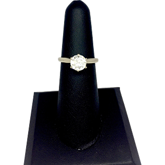 1.02 CT Round Solitaire Diamond Engagement Ring in 14K White Gold