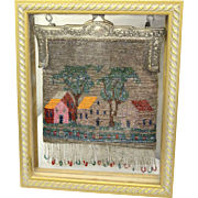 Antique Two Sided Scenic Beaded Framed Purse