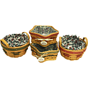 Longaberger Baskets Set of 4