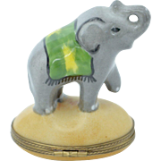Hand Painted French Limoges Elephant Box