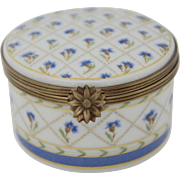 Haviland Limoges Flower Trinket Box