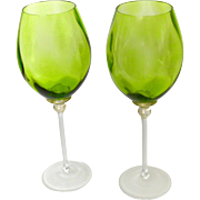 Handcrafted Wine Glasses Set of Two