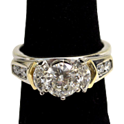 1 Ct. Round Diamond Solitaire Ring in 14k Gold Wrap