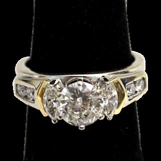 1 Ct. Diamond Ring in 14k Gold Wrap