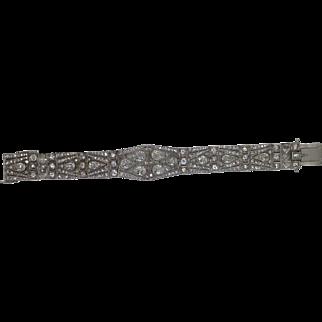 18.20ct diamond and platinum bracelet.