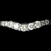 Custom Curved 1/3cttw Diamond Anniversary Band- 14k White Gold