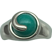 Interchangeable stone bead ring in Sterling Silver (925)
