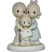"""Precious Moments -1994 """"God Bless The Day We Found You"""" Figurine"""