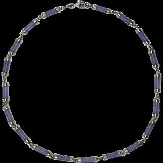Vintage Amethyst Necklace - Sterling Silver (925)