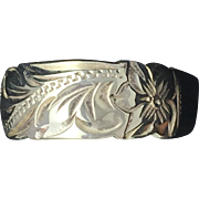 Vintage Hand Engraved Band - Sterling Silver (925)