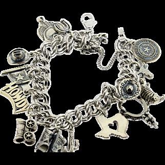 Wild West Charm Bracelet Sterling Silver
