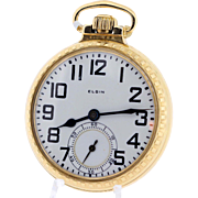 21 Jewel Elgin Pocket Watch BW Raymond Gold Filled