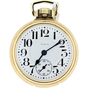 Elgin Pocket Watch Gold Filled 21 Jewel Fathertime