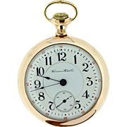 Hampden Watch Co Pocket Watch Gold Filled 21 Jeweled Movement