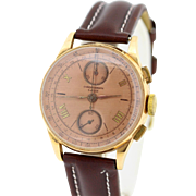 18K Gold Suisse Chronograph Wrist Watch