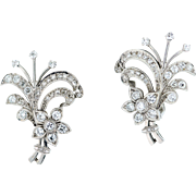 1940 Platinum Diamond Earrings