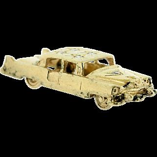 14K Yellow Gold Car Charm with Diamonds