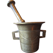 Trench Art Brass Apothecary Mortar and Pestle
