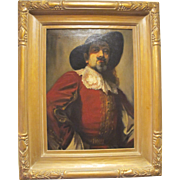 Oil Painting on Canvas of French Cavalier by Maurice Ingres