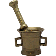 19th Century Russian Brass Mortar and Pestle