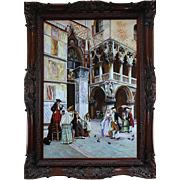 Large Oil on Canvas, Venice, period painting, 20th Century, Signed H. Alex