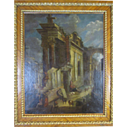 After Giovani Paolo Panini (1691-1765) Large Capriccio Scene 18th Century