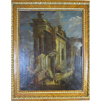 After Giovani Paolo Panini (1691-1765) Large Capriccio Scene 18th Century