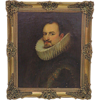 Oil on Canvas Portrait of Emmanuel Philipbert of Savoy, Prince of Oneglia after Sir Anthony Van Dyck