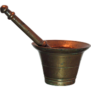 Antique Bronze Mortar and Pestle