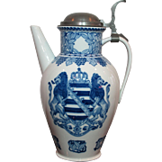 Meissen Antique Porcelain 2.5L Tullenkanne or Serving Beer Stein