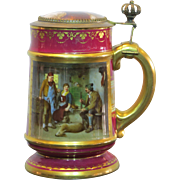 Personal presentation Royal Vienna Beer Stein of Tony Faust of St. Louis Beer Fame and Restaurateur 1893 Columbian Exposition