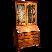 An English Antique Mahogany Secretary or Bureau Bookcase. circa 1790