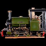 "An English built 5"" Gauge live steam locomotive ""Sweet Pea"", circa 1995."