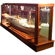 An Original Shipbuilders Model of the M V Baudouinville