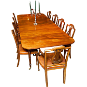 A Rare English Antique Mahogany Campaign Dining Table of the finest quality, circa 1825.