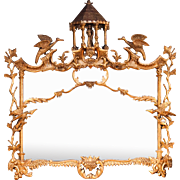 An English Chippendale / Chinoiserie design landscape mirror.