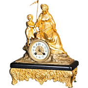 A very good French 19th century Gilt Bronze Mantel Clock