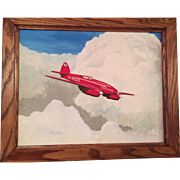A contemporary Aviation oil painting of the De Havilland D.H. 88