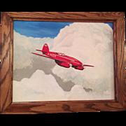 A contemporary Aviation oil painting of the De Havilland D.H. 88