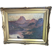 Pair of impressionist oil paintings by J M Ducker early 20th c. Scottish Landscape