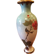 A Cloisonne vase made in to a lamp.