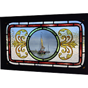 A Pair of 19th century stained glass panels.