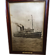 A large photographic print of the P&O liner Morea circa 1910.