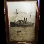 A large photographic print of P&O liner SS Medina, circa 1910.