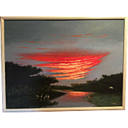 A Florida Highwaymen painting by Johnny Daniels 1954 - 2009