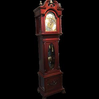 A mahogany Grandfather clock.