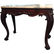 An Irish console table in mahogany, circa 1820.